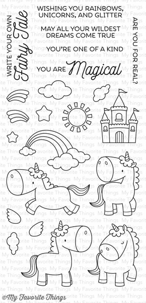 Clear stamps – my favorite things – magical unicorns