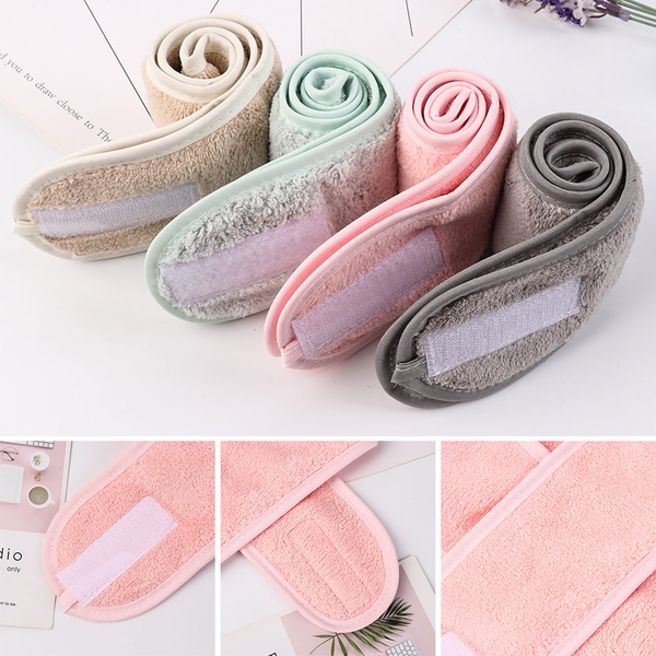 Facial hairband makeup head band toweling hair wrap shower caps