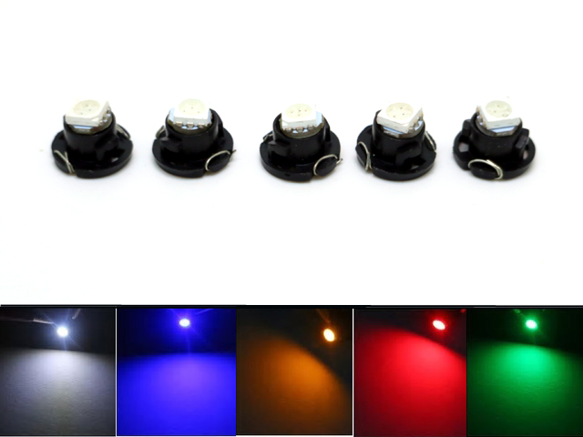 T4.7 t4 neo wedge 5-pack med led chip instrument belysning