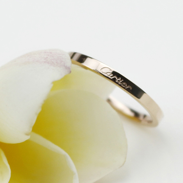 Smooth simple fine ring cartier female ring for wedding