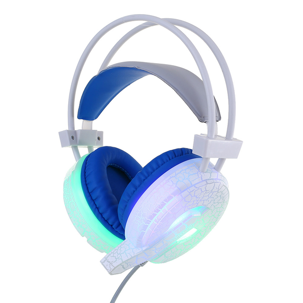 Beauty h6 cracked pattern video game headset 3.5mm led