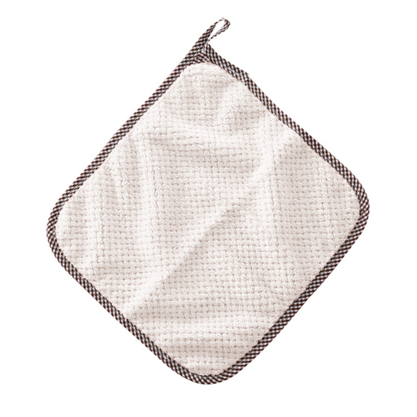 Hand cleaning towel square dishcloths hanging loop for kitchen
