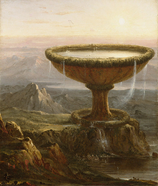The Giant's Chalice,Thomas Cole,49.3x41cm