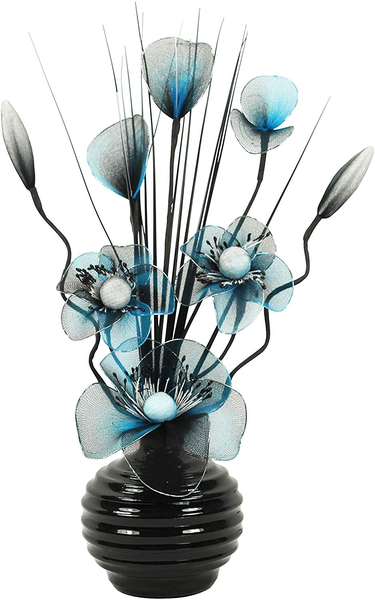 Artificial flowers with vase decoration home accessories and d