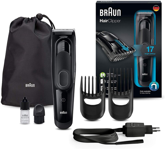 Hair trimmer with 17 length settings black