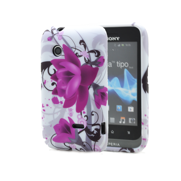 Flexicase skal till sony xperia tipo st21i – lila blomma