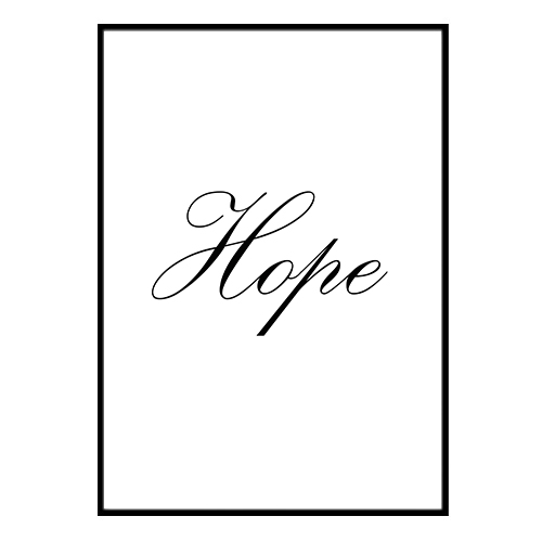 Poster 21x30cm - Hope A4 21x30cm Poster 2970ef