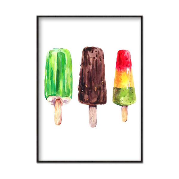 Poster A4 21x30cm Three Glaces
