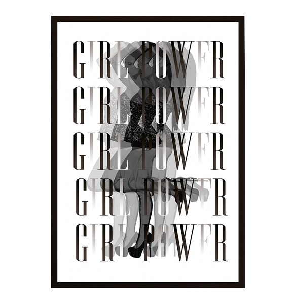 Poster - Woman illusion Girlpower Royal init No.5 21x30cm