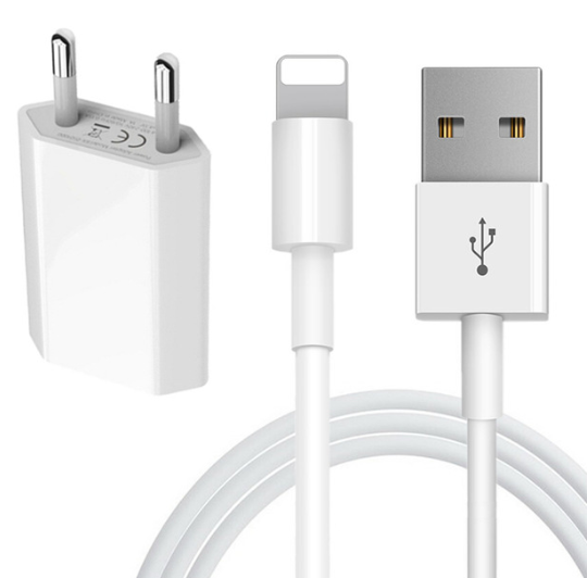 1 m iphone kabel med vägladdare