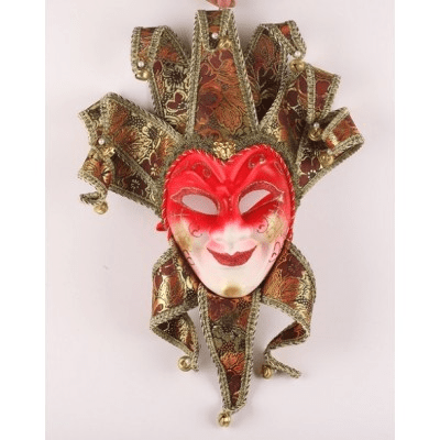 Röd joker mask