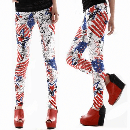 Leggings med usa-motiv