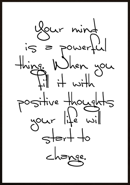 Poster - Your mind is powerful No.1 50x70cm