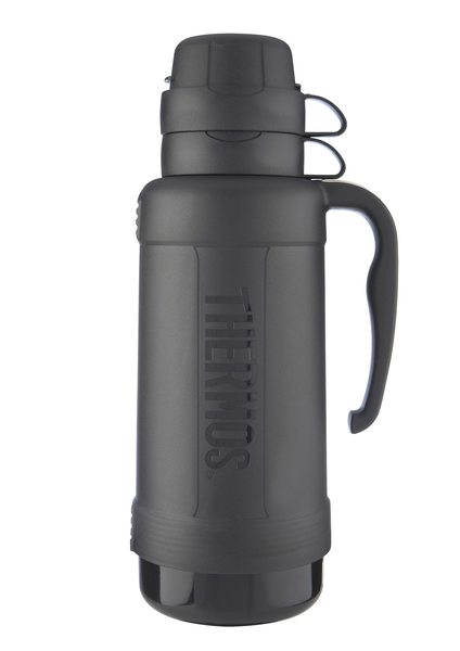 Genuine Thermos Eclipse Glass Vacuum Travel Handle Flask 1.8L Bl