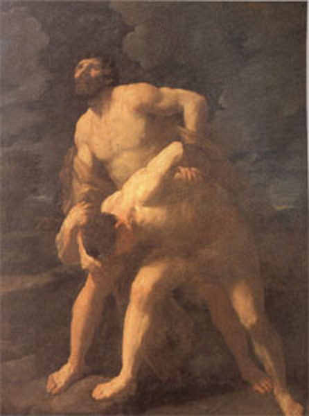 Hercules Wrestling with Achelous,Guido Achelous,Guido Achelous,Guido Reni,50x40cm 5f472d