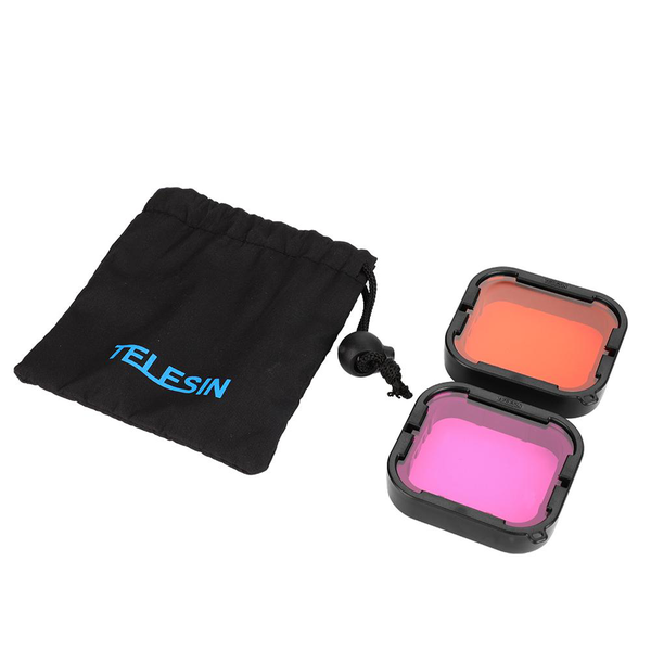 Telesin underwater diving red and purple filter for gopro he