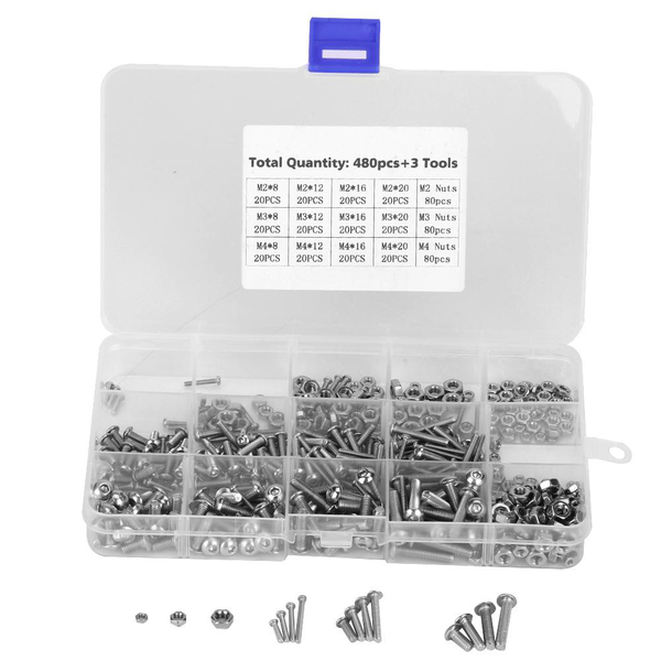 480pcs m2/m3/m4 machine screws set fasteners for laptop/hard