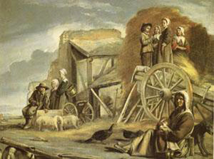 The Cart or the Return from Haymaking,Louis Le Nain,50x40cm