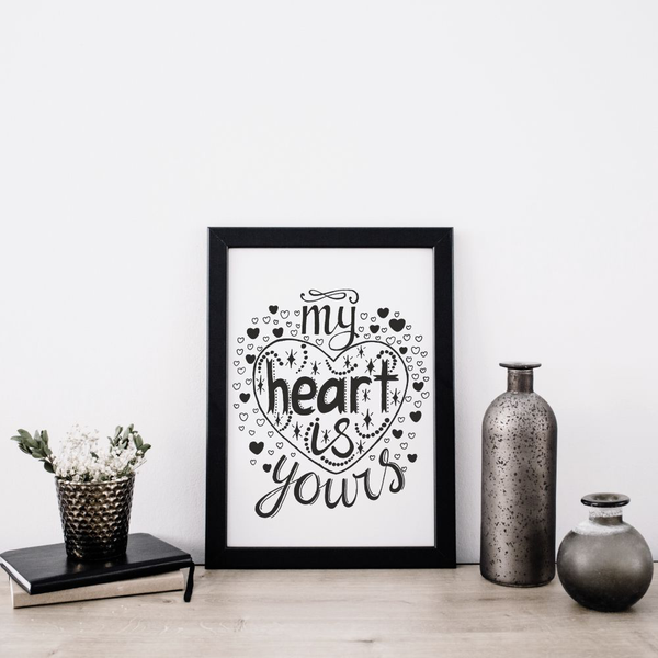 Poster A4 21x30cm My Heart Heart Heart Is Yours 69cb0b