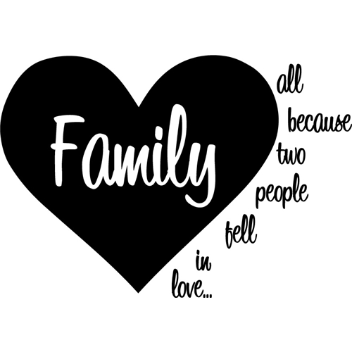 Family - All because two people people people fell in love... Väggord 678f12