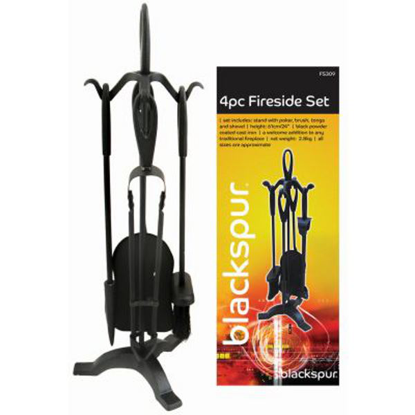 4pc fireside set blackspur