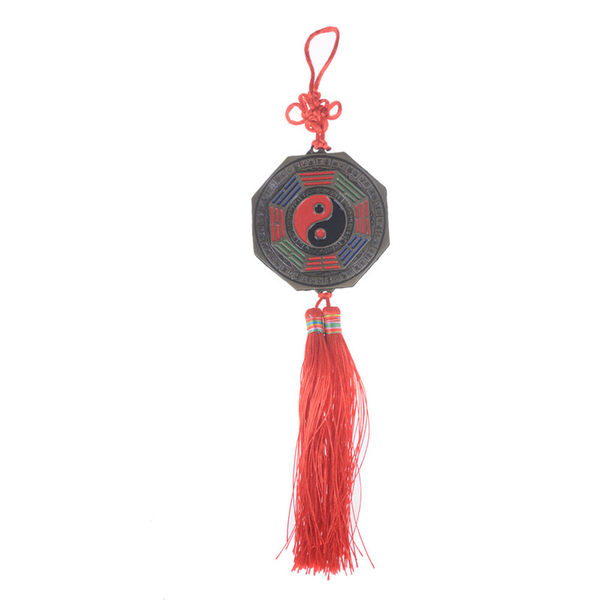 Chinese feng shui bagua mirror good luck fortune prayer hanging