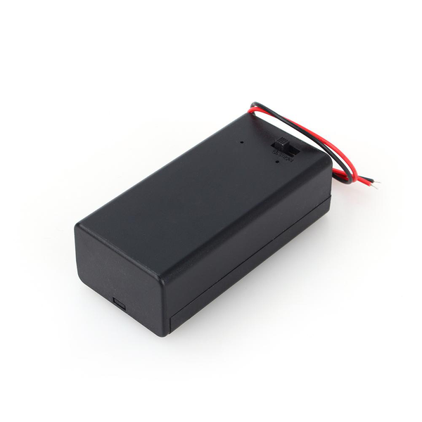 9v volt pp3 battery holder box dc case w/ wire lead on/off s