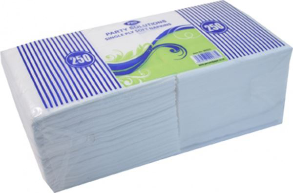 Pack of 250 single ply soft paper napkins