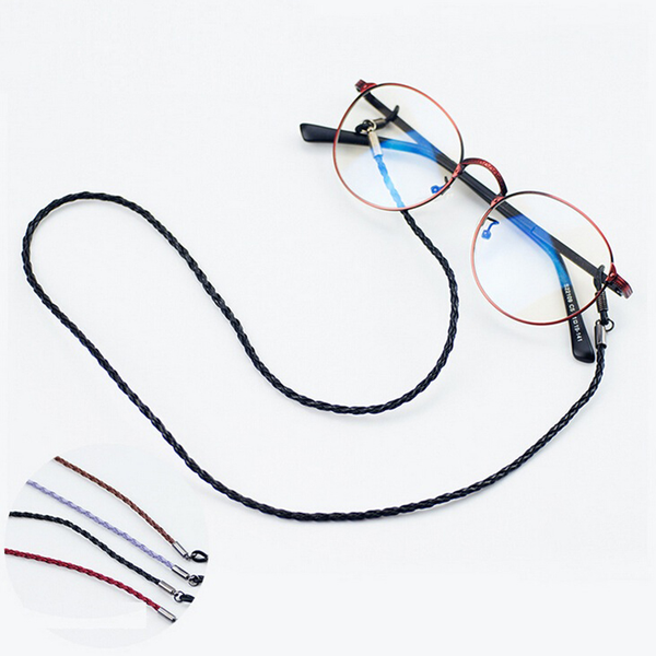 Fashion colorful leather glasses eyeglass cord holder necklace c