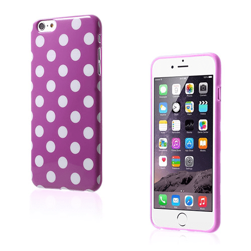 Polka (lila / vit) iphone 6 plus skal