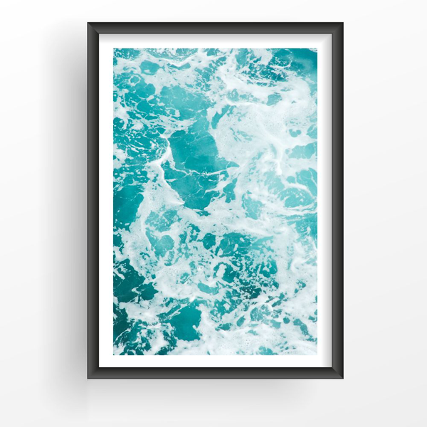 Poster A4 21x30cm 21x30cm 21x30cm Ocean From Above 1ad41c