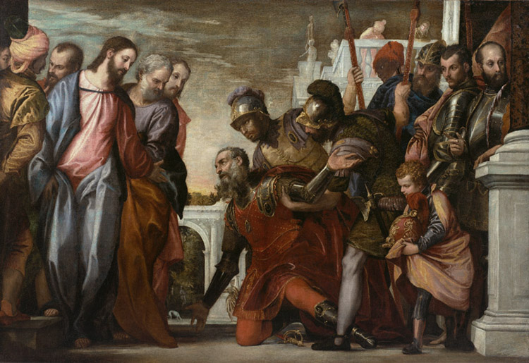 Jesus and the Centurion,Paolo Veronese,60x40cm