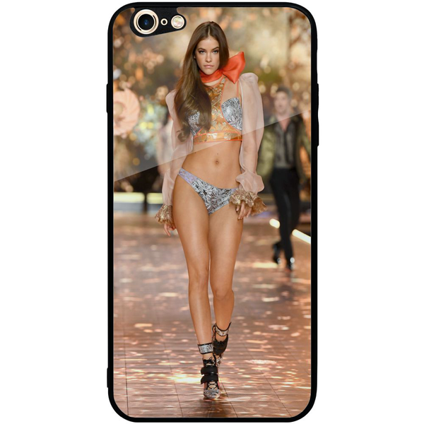 Apple iphone 6 plus / 6s plus mobilskal med glas sexy girl