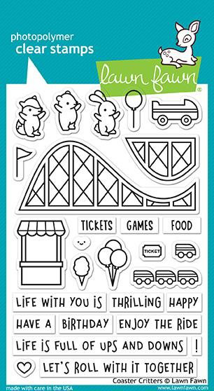 Clear stamps 4″x6″ – lawn fawn – coaster critters