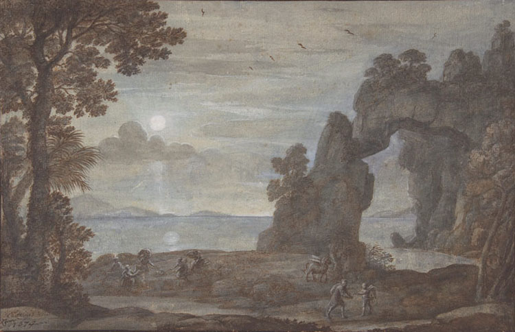 Perseus and the the the Origin of Coral,Claude Lorrain,24.8x38cm cda9b0