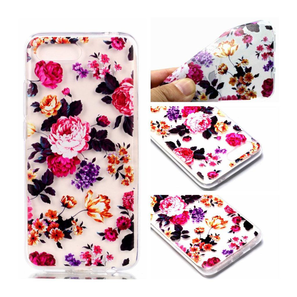 Huawei honor 10 pattern printing soft case – blooming flowers