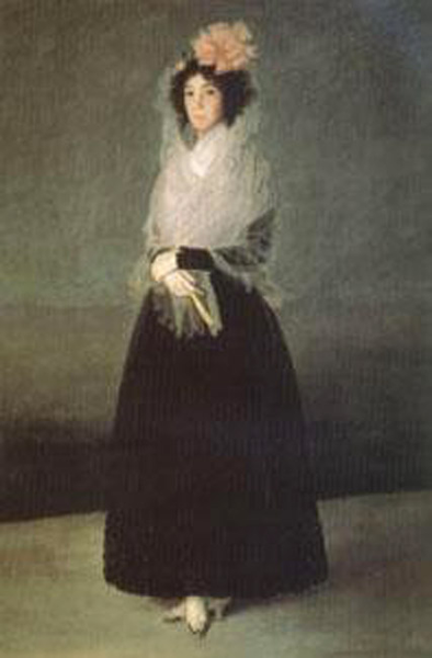 The Countess of Carpio,Marquise de la Solana,Francisco de Goya,6