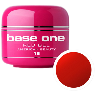 Base one – color – uv gel – red – american beauty – 18 – 5 gram