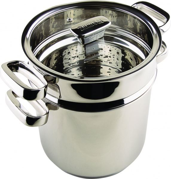 20cm STAINLESS STEEL PASTA POT STEAMER WITH GLASS LID