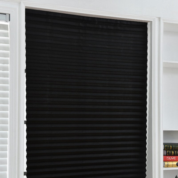 Curtain cordless light filtering pleated fabric shade