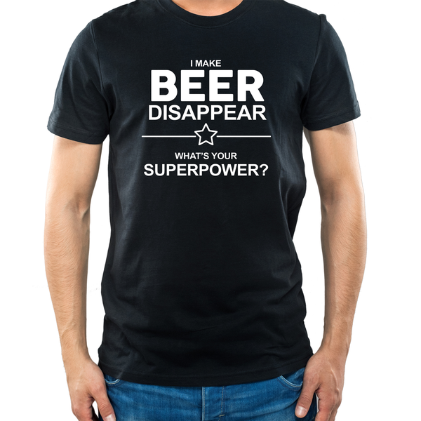 Herr t-shirt - Beer disappear superpower