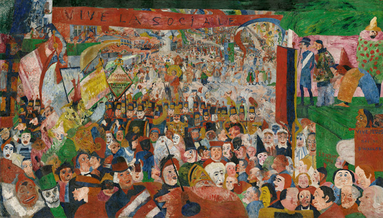 The Entry of Christ into Brussels in 1889,James Ensor,60x40cm