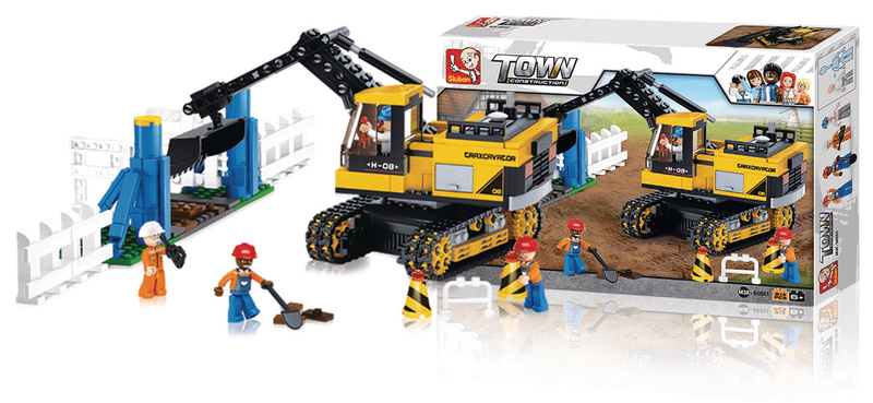 Sluban Building Blocks Town Series Excavator