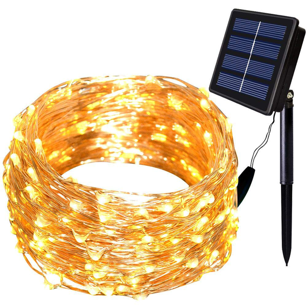 150 leds fairy light solar powered wire for outdoor christmas