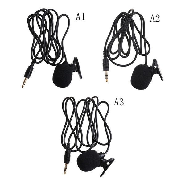 Portable clip-on lavalier microphone 3.5mm jack mini microphone