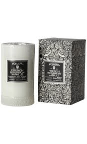 Voluspa french bourbon vanille slender petite glass candle 149g