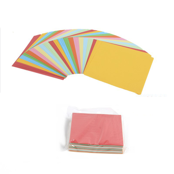 Solid color origami paper craft folding square papers