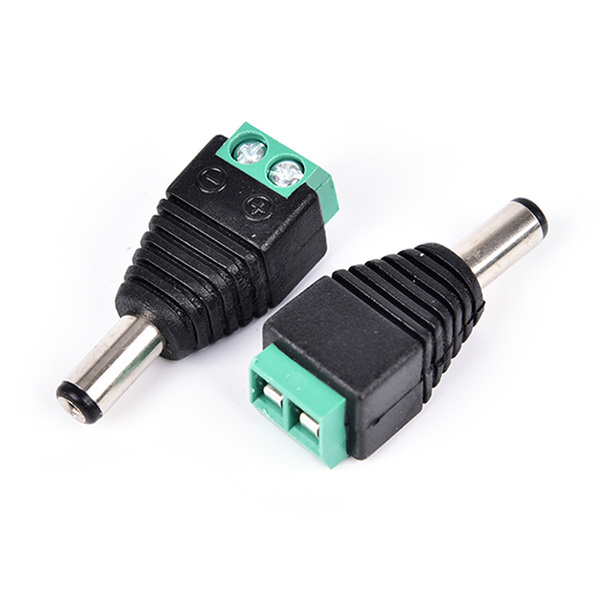 5 pcs 5.5×2.1mm male jack dc power adapter connector plug for cc