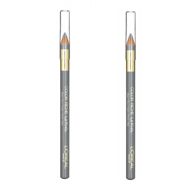 2st l'oreal color riche le khol eye liner pencil-frosted silver