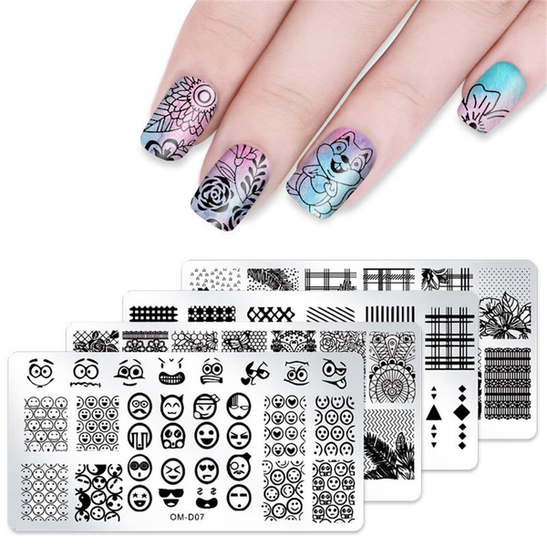 Nail art template stamping plates image stencil monster